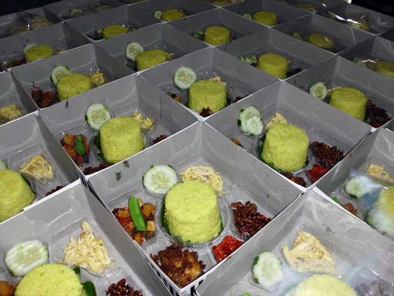 Pesanan Nasi Kotak Ibu Rini di Menteng, Jakarta Pusat