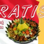 Nasi Tumpeng Kuning 17 Agustus Ibu Tiara di Medan Merdeka, Jakarta Pusat
