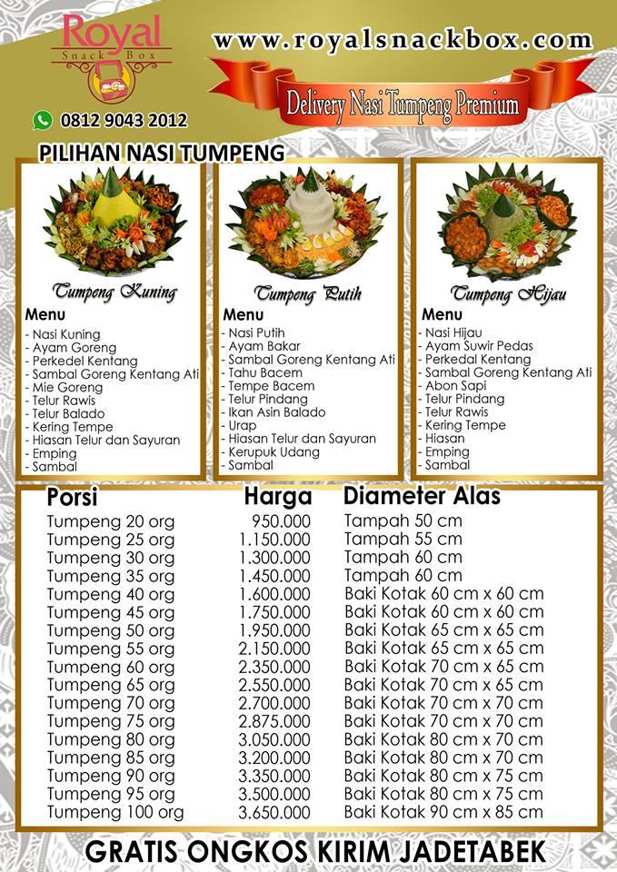 Pesan Nasi Tumpeng di Tebet Jakarta Selatan