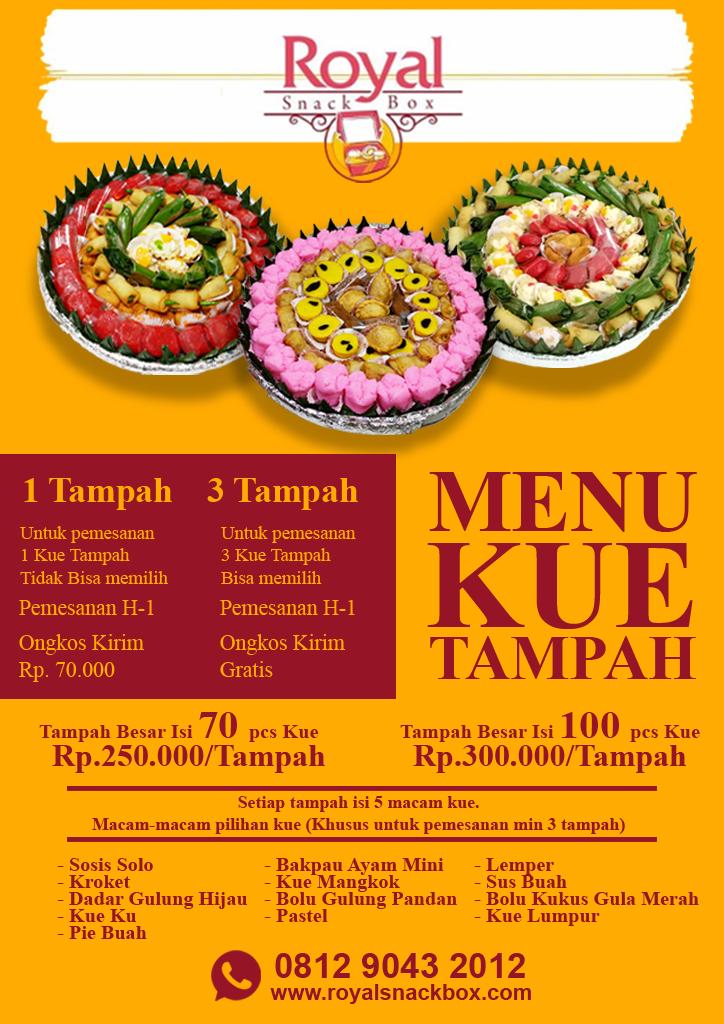 Menu Kue Tampah RSB New